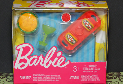 Barbie Doll -ACCESSORIES -Story Starter TACOS Corn Chips SALSA Margarita MEXICAN