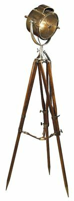 G302: Altbritischer Maritime Searchlight on Rosewood Tripod Bronze