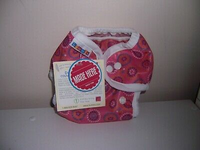Bummis duo Brite Cloth diaper wrap size 1 pink  New