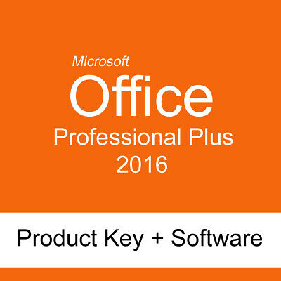 Microsoft Office 2016 Professional Plus 32/64 bit Product Key + Software