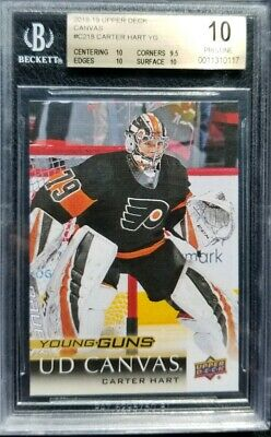Carter Hart 2018-19 Upper Deck Series 2 Young Guns Canvas Rc Bgs 10 Pristine