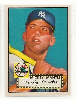 1952 Topps ACEO RP Rookie Card - #311 - Mickey Mantle - New York Yankees