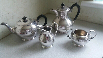 Vintage / Antique Silver Plated  Four  Piece Tea  And Coffee Pot Set