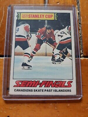 O-PEE-CHEE 1977-78 OPC Hockey Card #262 Stanley Cup Semi-Finals Canadiens