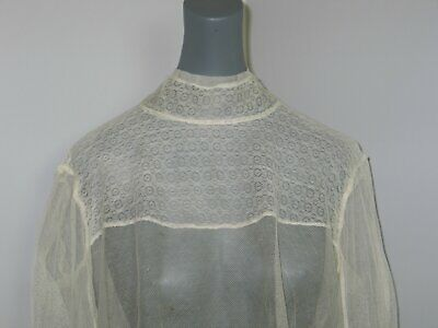 Romantic Antique Victorian Edwardian Blouse~Lace Blouse-Bobbin Lace~