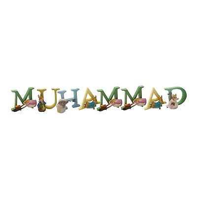 Official Licensed Beatrix Potter Peter Rabbit Boy Name Muhammad Alphabet Letters
