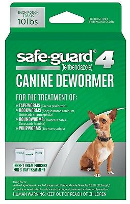 Excel SafeGuard Canine Dog Dewormer 8in1 3-Day Worm Treatment Small Medium Large