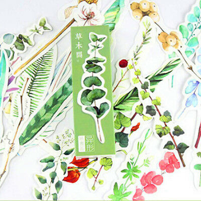 Plants Paper Bookmark Leaves Printing School Stationery Book Marker Chips Set CO