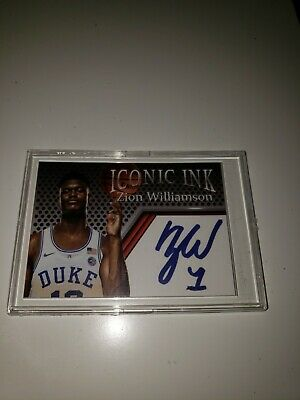 2018 ZION WILLIAMSON Iconic Ink Facsimile autograph edition RC Duke