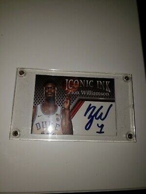 2018 ZION WILLIAMSON Iconic Ink Facsimile autograph edition RC Duke w/screwcase!