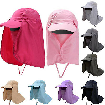 Legionnaire Cap Sun Hat UV Neck Protection Mens Women Summer Outdoor Hiking Hat