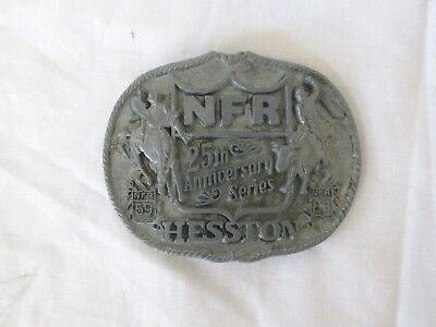 NFR 25th Anniversary Series HESSTON 1959-1983  Belt Buckle First Edition