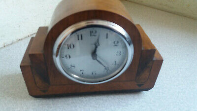 Vintage Art Deco Wooden Mantel Clock- Smiths Enfield  - Needs Work