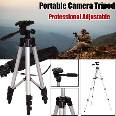 Portable Travel Camera Tripod Stand Holder Adjustable Height for Nikon Canon US