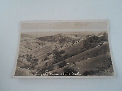 NATAL, Valley of a Thousand Hills - Vintage RPPC Franked+Stamped c.1935 §E1194