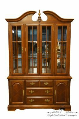 """UNIVERSAL FURNITURE Cherry Traditional Style 54"""" Buffet w. Lighted Display Ch..."""