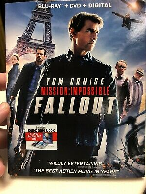 MISSION: IMPOSSIBLE - FALLOUT  2018 Blu-Ray + DVD + Digital)