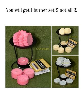 Black Tart Warmer Set-Half Doz Lotion Tarts/Lotion Tealights-Great for the Skin!