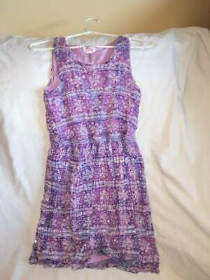 Nwt$40 Justice Sequin @purple Sparkle Metallic Nordic Fair Isle Sweater Dress 18 High Quality Kids' Clothing, Shoes & Accs Girls' Clothing (sizes 4 & Up)