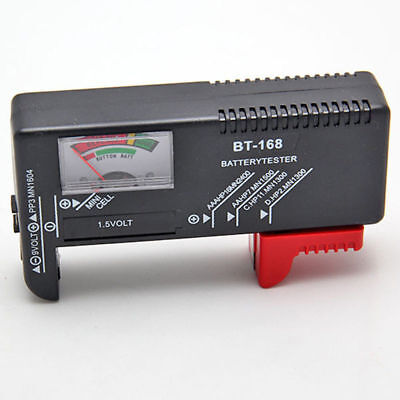 AA/AAA/C/D/9V/1.5V Universal Button Cell Battery Volt Tester Checker BT-168 Tool