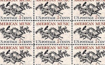 1964 - AMERICAN MUSIC - #1252 Full Mint -MNH- Sheet of 50 Postage Stamps