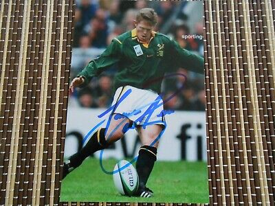 Jannie DeBerr, Ex,South Africa Rugby Player, Original Hand  Signed Photo 6 x 4