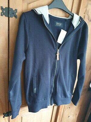 Next  zip up hoodie top boys age 12 blue bnwt rrp £14