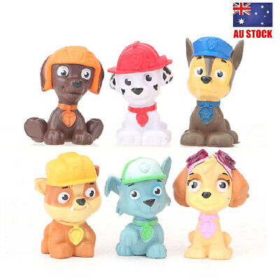 Paw Patrol Puppy Dogs Cartoon 6 PCS Action Figure Doll Toy Kids Gift Cake Topper