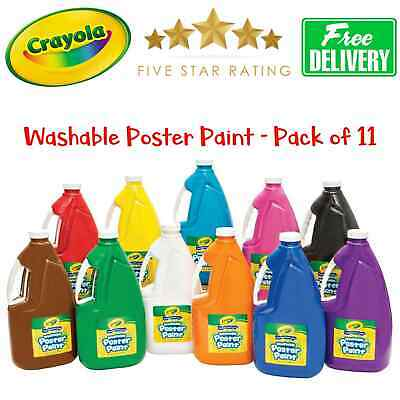 11-Pack Crayola Washable Poster Paint (AU Stock) Free Post