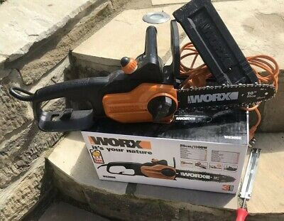 WORX WG305E 1100W Compact Electric Chainsaw 25cm + Blade Sharpening Tool