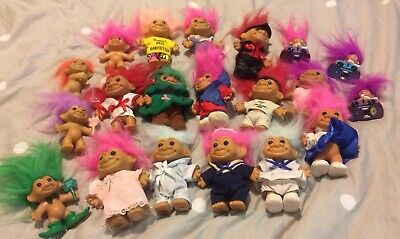 Vintage Mixed Lot of 20 RUSS Troll Dolls