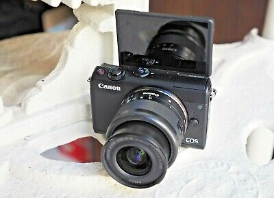 Canon EOS M100 Digital Mirrorless Camera + EF-M 15-45mm and all extras