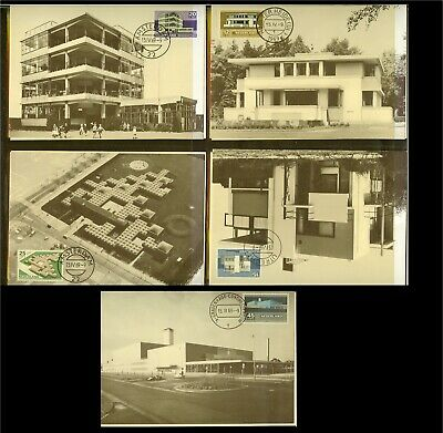 [B32_007] 1969 - Max.cards NVPH no. 920-924 - Summerstamps - Architecture