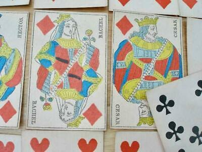 Complete Set of Antique French Playing Cards.