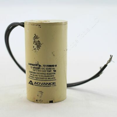 New Advance Transformer Capacitor 12 MFD 300VAC 50/60Hz 100C E5 Bulk 7C120M30-R