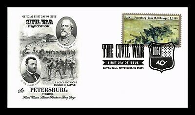 Dr Jim Stamps Us Civil War Sesquicentennial Petersburg Fdc Cover Art Craft