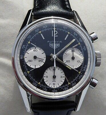 Extremely Rare Vintage Heuer 3rd Execution Ref 2446 Tachymeter Dial Chronograph