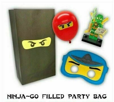 Ninjago Party Bag + Mask, Balloon, figure - Birthday fillers, favours, supplies