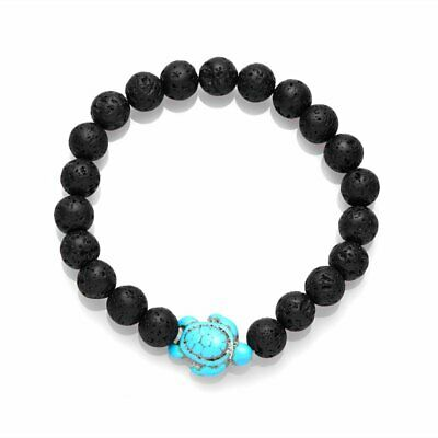 Fashion Natural Lava Stone Bead Bracelet Bangle Adjustable Yoga Handmade Gift