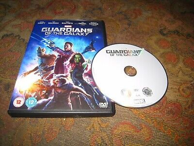 Marvel Guardians Of The Galaxy Used Chris Pratt Sci-Fi Action Adventure Uk Dvd.