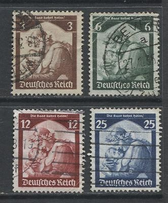 1935 Germany  Third Reich  Return Of The Saar complete set used $ 16.50