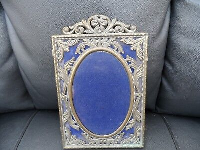 Beautiful decorative art deco  metal photo frame  made in Italy