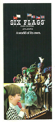 Vintage 1972 Six Flags Over Georgia Brochure Sid & Marty Krofft Theater Pufnstuf