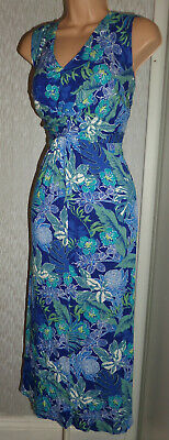 Pretty Ladies Summer Holiday Stretch Long Dress Size 20