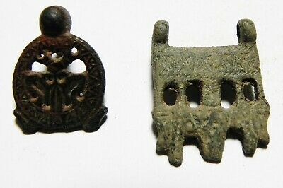 Zurqieh - As12599- Ancient Roman/Byzantine. Lot Of 2 Bronze Belt Buckles.