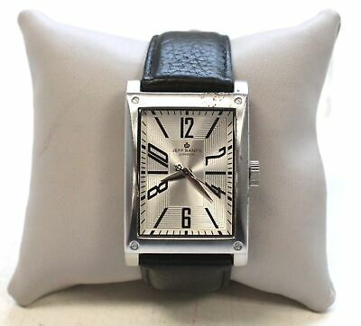 Gents JEFF BANKS 588460 Black Leather Strap Wristwatch Spares/Repairs - A16