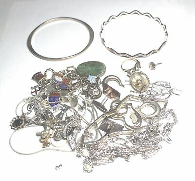 130.5g Bulk Lot Collection of SILVER & COSTUME JEWELLERY - C41