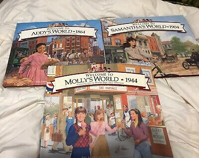 Lot 3 AMERICAN GIRL Welcome to Samantha's Molly Addy's World HB 1774 1864 1944