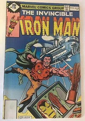 The Invincible Iron Man #118 Marvel Comics 1979 FN+ 1st Jim Rhodes Appearance