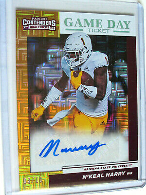 2019 Panini Contenders Draft Picks N'Keal Harry Auto #03/10 Game Day Ticket